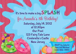 birthday pool party invitation template cloveranddot com