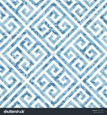 Greek Key Motif Seamless Water Themed Greek Key Background Stock Vector 128711945