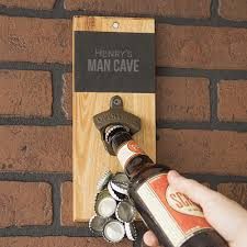 Unique Wall Mount Bottle Opener Personalized Slate U0026 Acacia Wall Mount Beer Bottle Opener