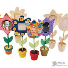 free shipping 12pcs lot diy unfinished wood flower photo holders
