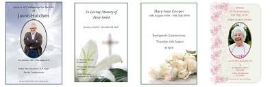 Funeral Booklets How To Order Funeral Order Of Service Booklets From Colour Inc