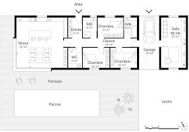 plan de maison de plain pied avec 3 chambres plans maison plain pied 3 chambres excellent plan maison en u