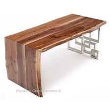 live edge computer desk mahogany live edge desk rustic log reclaimed industrial
