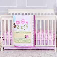 Portable Mini Crib Bedding by The Peanut Shell 4 Piece Baby Crib Bedding Set Coral Pink