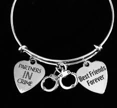 best size bracelet images Best friends forever partners in crime adjustable bracelet jpeg