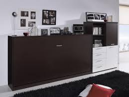 Matte White Bedroom Matte Dark Brown Varnished Mahogany Wood Horizontal Wall Bed