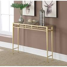 Wall Tables Convenience Concepts Gold Coast Julia Hall Console Table Gold