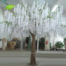 gnw bls080 10ft large artificial white flower plastic wisteria