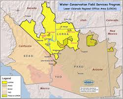 Arizona City Map by Bureau Of Reclamation Lower Colorado Region Water Conservation