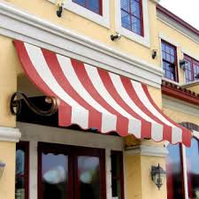 Awnings Usa 3 Ft Charleston Stationary Awning Red And White Stripe 289 99