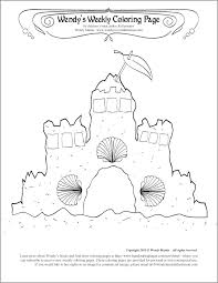Sand Castle Coloring Pages Sandcastle Coloring Page
