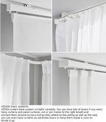 Curtain Rod Ikea Inspiration Great Ceiling Track Curtains Ikea Inspiration With Curtain Rails