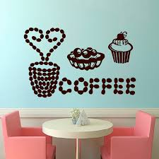 compare prices on cake wall decal online shopping buy low price dctop new arrival creative coffee cup wall decals cakes removable vinyl art sticker for wall home