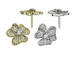 beautiful earings beautiful stud earrings with azures 3d print model