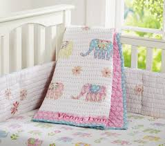 Elephant Crib Bedding Sets Vienna Elephant Nursery Bedding Set Pottery Barn