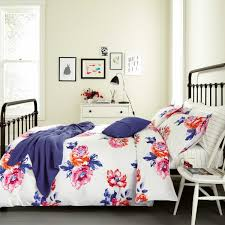 joules salcombe floral bedding in deep blue at bedeck 1951