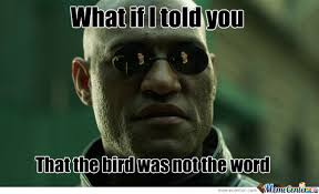 Word Meme - bird is the word by u mad bro meme center