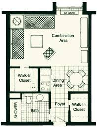 Efficiency Apartment Floor Plans Accommodations And Services