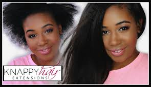 knappy hair extensions how to install clip ins on short hair knappy hair extentions