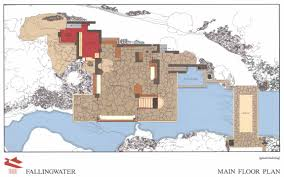main floor plan fallingwater drawings and plans frank lloyd