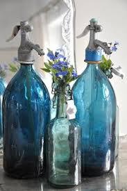 Blue Glass Bathroom Accessories Vintage Bathroom Accessories Part 1 Glass Bottles With Flowers
