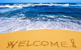 welcome text on the beach holiday backgrounds pinterest texts