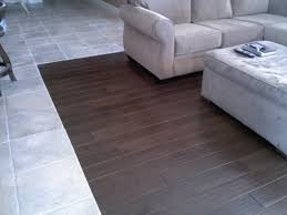 Grey Tile Laminate Flooring Hardwood And Tile Combination Flooring Youtube