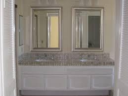 Mirror Framed Mirror Bathroom Framed Bathroom Mirror Silver Home Design Ideas