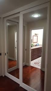 Closet Doors Menards by Glamorous Mirrored Sliding Door Contemporary Best Idea Home