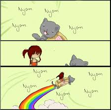 Nyan Cat Meme - nyan cat meme 8d by naru luff on deviantart