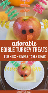 diy edible turkey food craft treats so festive