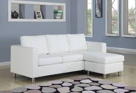 Modular Sleeper Sofa by Furniture White Microfiber Modular Chaise Sofa With Chromed Metal