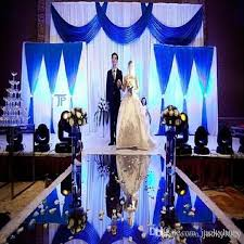wedding backdrop blue 30m roll 1 2 m wide luxury wedding backdrop decor mirror carpet