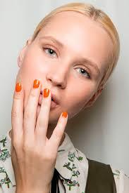 orange nail polish trend for spring 2017 allure
