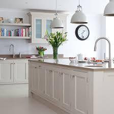Kitchen Pendant Light Pale Grey Kitchen With Oak Effect Floor Traditional Kitchen