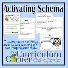 activating schema the curriculum corner 123