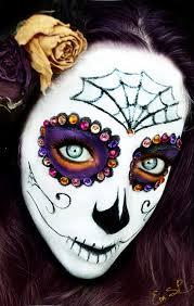 Skeleton Halloween Mask by Sugar Skull Halloween Makeup By Chuchy5 On Deviantart