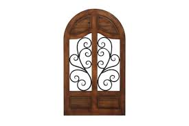 rustic reflections wrought iron cathedral wall decor by uma