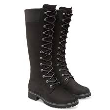 womens boots knee high black timberland s lace up knee high boots ebay