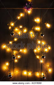 lights shaped like tree yard decoration stock