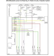 mitsubishi lancer speaker wiring diagram mitsubishi free wiring