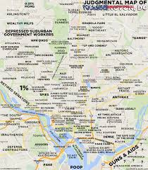 Dc Neighborhood Map Judgmental Maps Washington Dc By Jesse Copr 2015 Jesse All