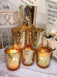 mercury tea light holders set of 6 mercury glass gold tea light holders candle votive wedding