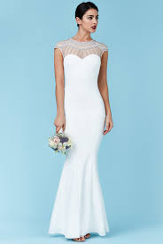 maxi wedding dress embellished fishtail maxi wedding dress white embellished