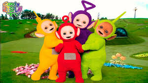 teletubbies colors pink blue green purple red orange yellow black