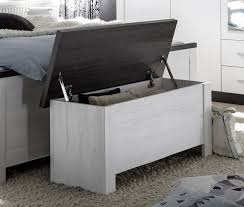 Schlafzimmer Bank Sitzbank Chest Truhe Schlafzimmer In Weiß Und Petrol Deckel