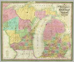 State Of Michigan Map Map Of The State Of Michigan And Territory Of Wisconsin David