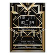 gatsby wedding invitations great gatsby wedding invitations announcements zazzle