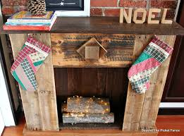 How To Make Fake Fireplace by Beyond The Picket Fence 12 Days Of Christmas Day 2 Faux Fireplace