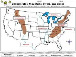 appalachian mountains on map united states map mountains rivers and lakes cut and paste